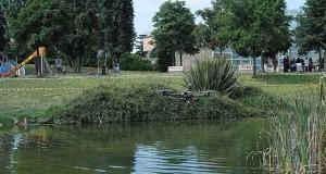 Pomigliano, il laghetto del parco pubblico