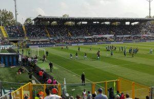 Lo stadio di Bergamo fotografato da Antonio e Rosangela, tifosi napoletani trapiantati a Milano