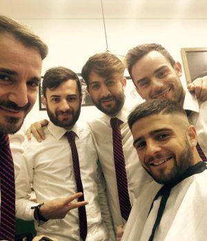 Lorenzo Insigne, protagonista del match con l'Empoli, e i suoi parrucchieri (fonte foto: pagina facebook