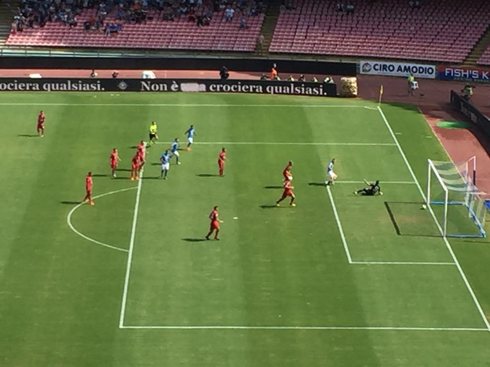 Il gol di Hamsik fotografato da Lucio Canzanella