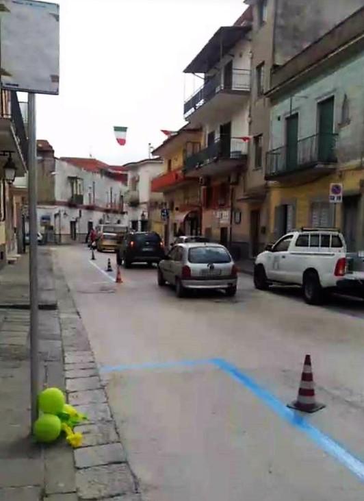 Le nuove strisce blu a Pomigliano
