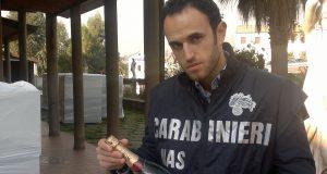 la foto del sequestro di champagne ad Afragola