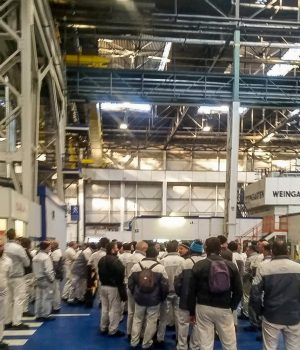 lo sciopero di ieri nella fiat di pomigliano