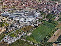 al centro l'area individuata per l'impianto di compostaggio