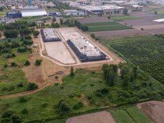 L'impianto di stoccaggio del Pantano, ad Acerra, foto scattata da un drone ieri