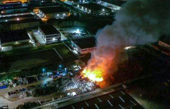 L'incendio alla Eurometal di Acerra