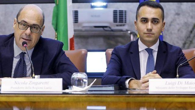 a dx Luigi Di Maio e a sx Nicola Zingaretti
