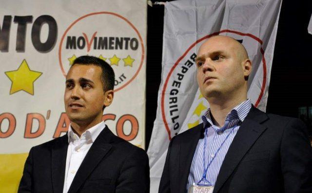 Dario De Falco, a dx, con Luigi di Maio, a sx