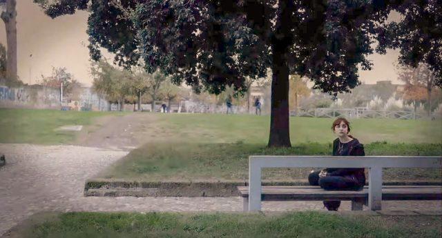 roberta amorico al parco pubblico di pomigliano_