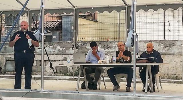 da sx don Pasquale Giannino, Raniero Madonna, Francesco Aliperti e don Aniello Tortora