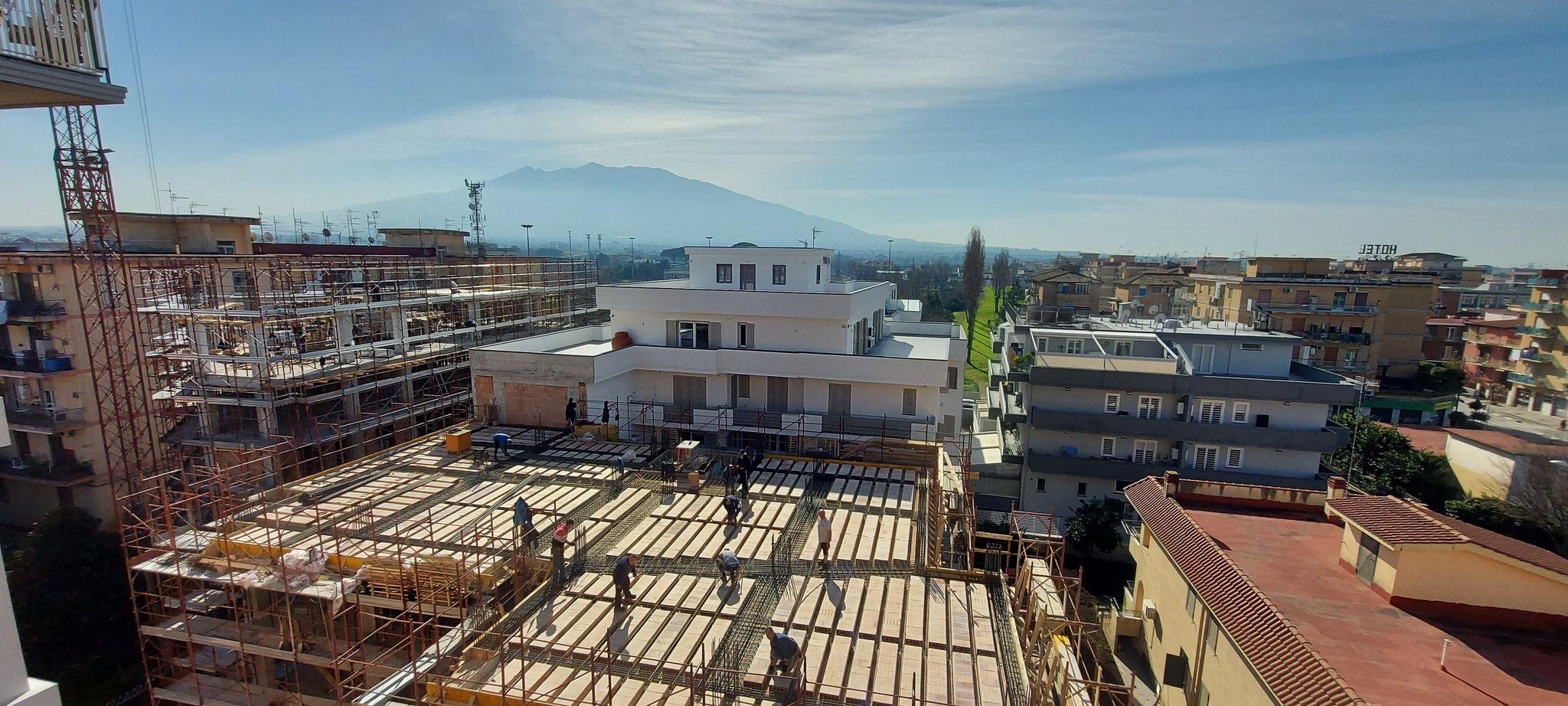 foto generica di nuovi cantieri a Pomigliano