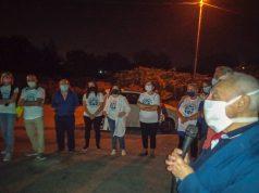 ieri sera la processione di don peppino a masseria Fornaro